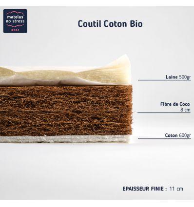 Matelas 70X130 en fibres de coco
