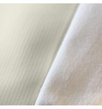 l'assemblage du plateau avec le pvc respirant et le bandeau en 100 % coton