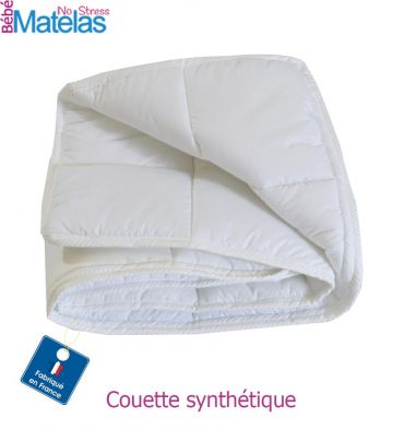Couette 110x100 Bébé en coton Percale et Ouate de Polyester