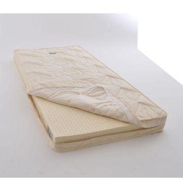 Matelas bébé bio 70x150 LATEX NATUREL enveloppe déhoussable 13 cm.