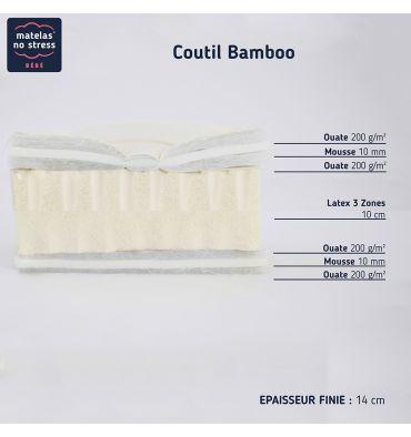 Coupe du Matelas Latex Bambou 14 cm 90x190
