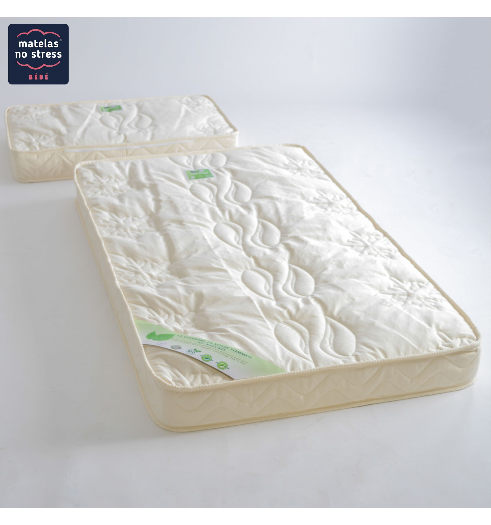 matelas evolutif en fibres de coco 90x140 plus 50x90 couffin matelas. Black Bedroom Furniture Sets. Home Design Ideas