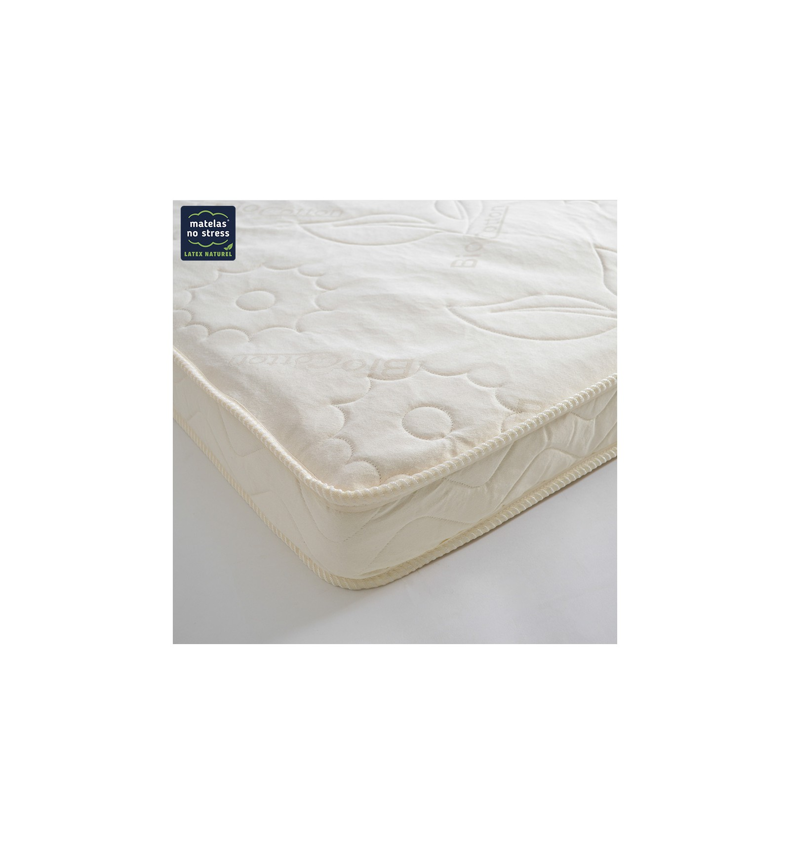 matelas 100 latex bio naturel en 90x140 couffin. Black Bedroom Furniture Sets. Home Design Ideas