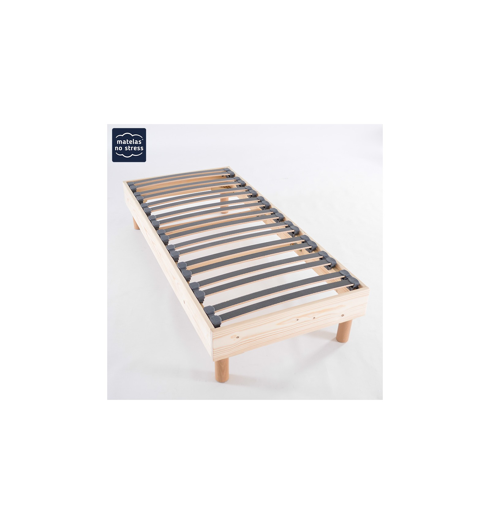 sommier bois naturel 70x160 couffin matelas. Black Bedroom Furniture Sets. Home Design Ideas