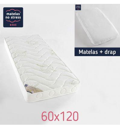 Matelas 60x120 confort Anti Acariens