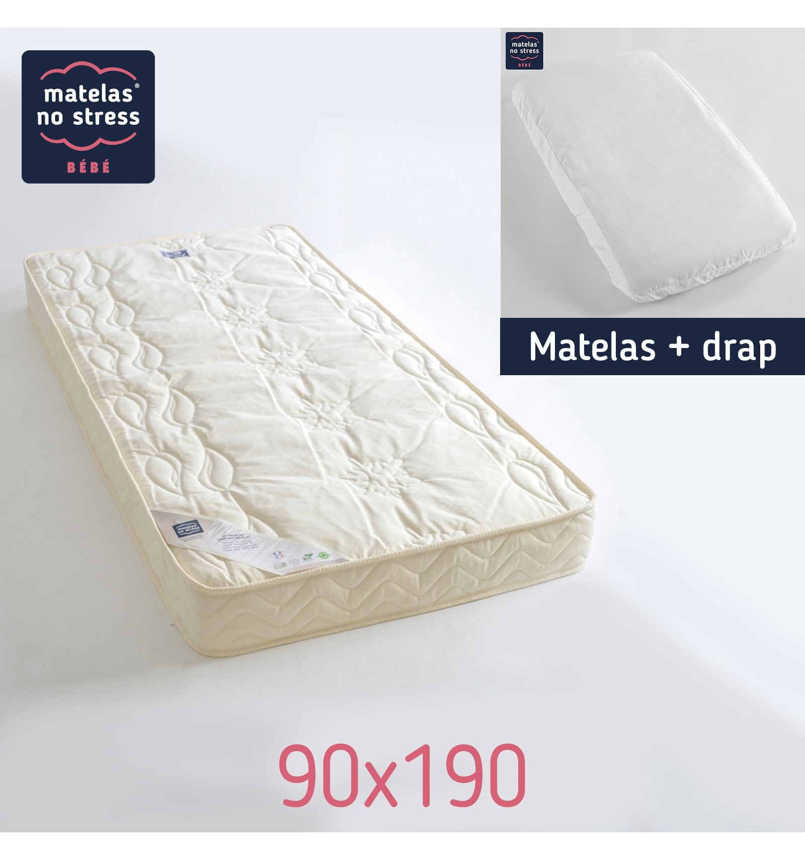 le matelas 90x190 avec son drap couffin matelas. Black Bedroom Furniture Sets. Home Design Ideas