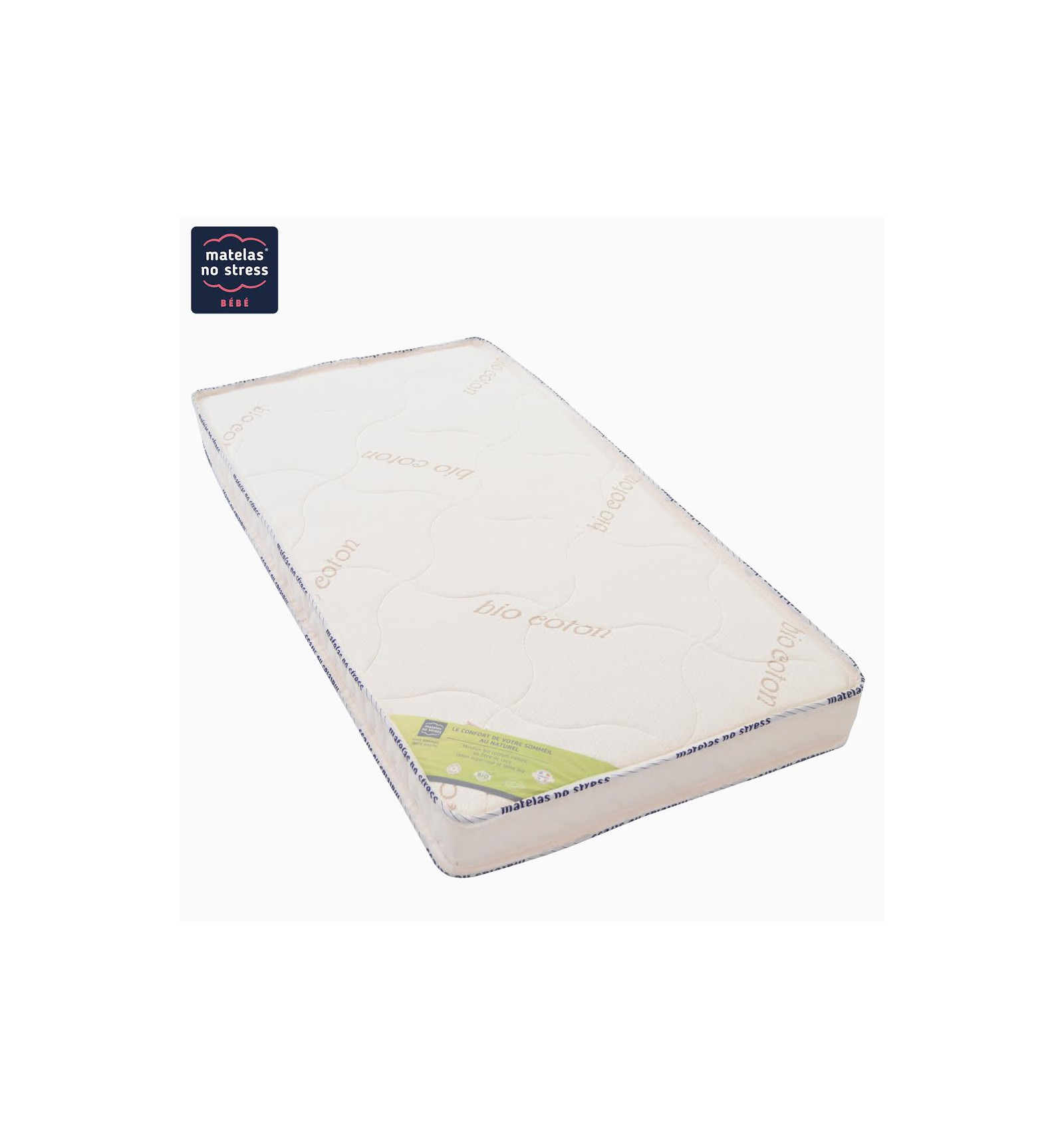 Matelas b b coco latex 70x140 100 naturel - Matelas latex naturel dunlopillo ...