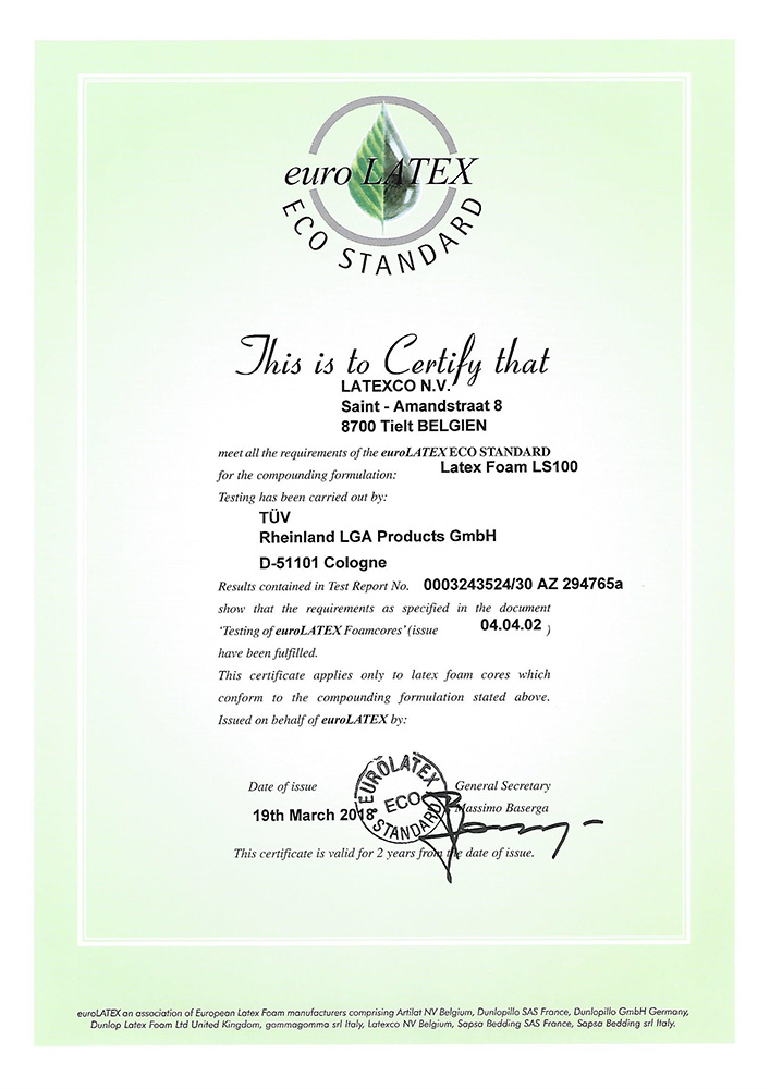 certificat latex