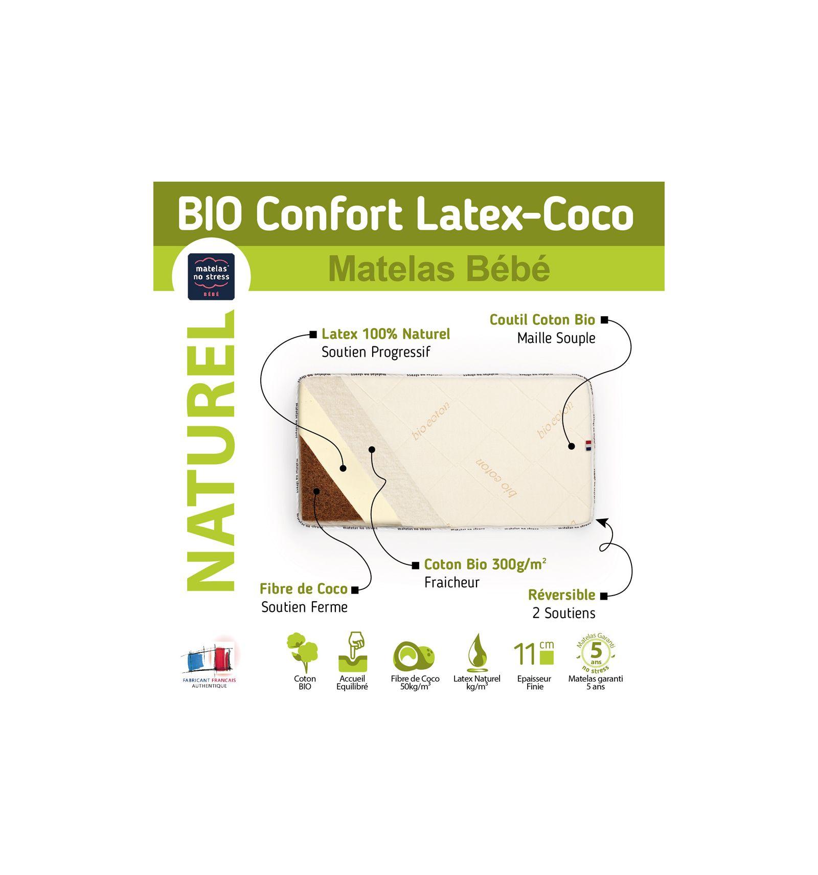 Matelas 55x110 confort douillet 10cm