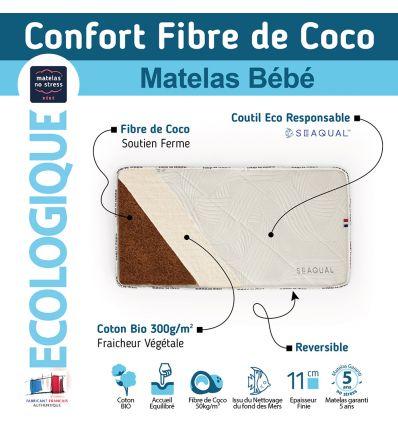 matelas 60x120 du futur en coco et SEAQUAL