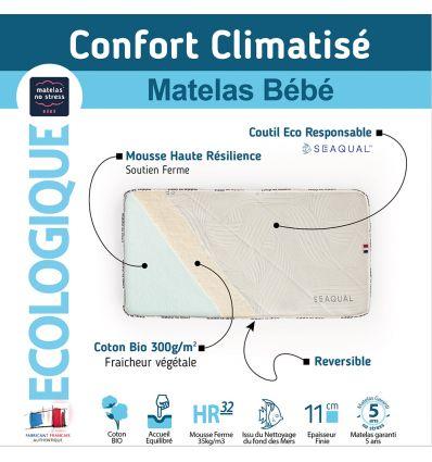 Le matelas du futur 60x120 bébé confort qui sauve la planète