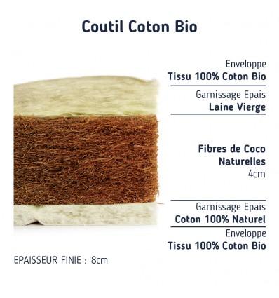 Matelas Couffin Sur Mesure Confort Nature Coco
