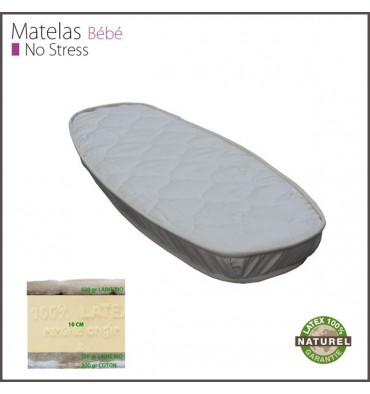 Matelas Latex Naturel Bercelonnette 12 cm