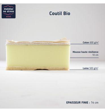 Coupe du Matelas Bébé 50x110 Double Face Enveloppe Laine Bio