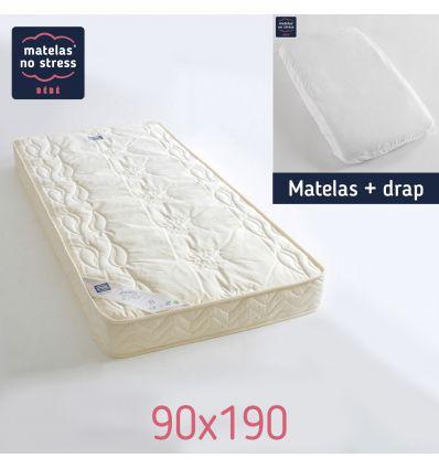 Le matelas 90x190 avec son drap offert